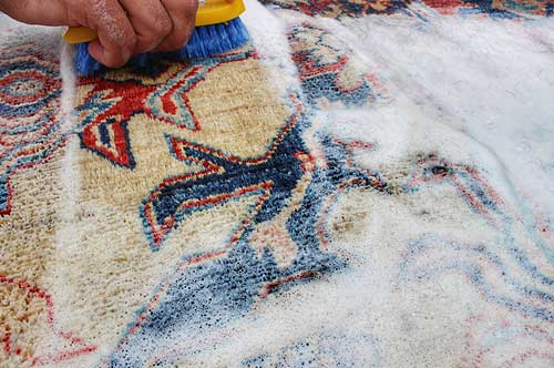 rug washing by hand